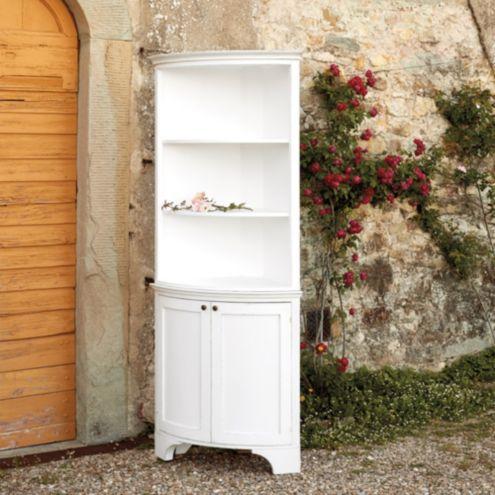 Casa Floina Paola Corner Cabinet With Hutch Custom
