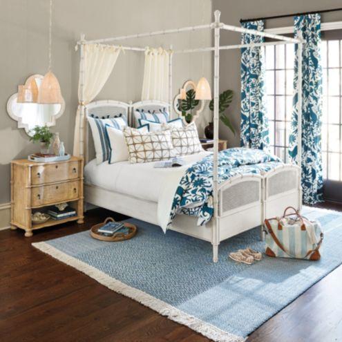 Stephanie Cane Canopy Bed Queen Ballard Designs