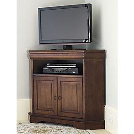 Angullo Corner Media Cabinet & Reston Corner Media Console W/Hutch | Ballard Designs