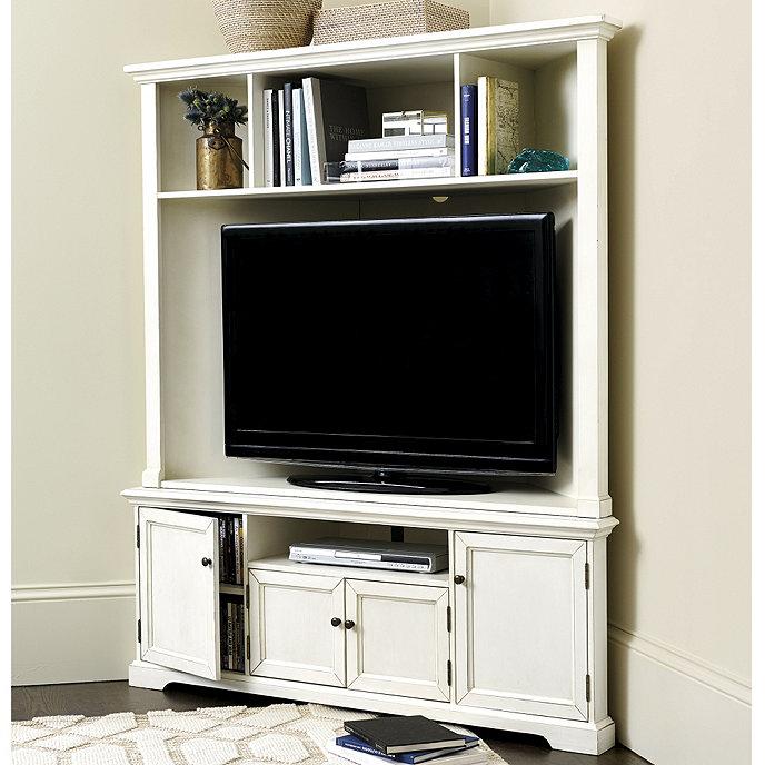 Reston Corner Media Console with Hutch & Reston Corner Media Console W/Hutch | Ballard Designs