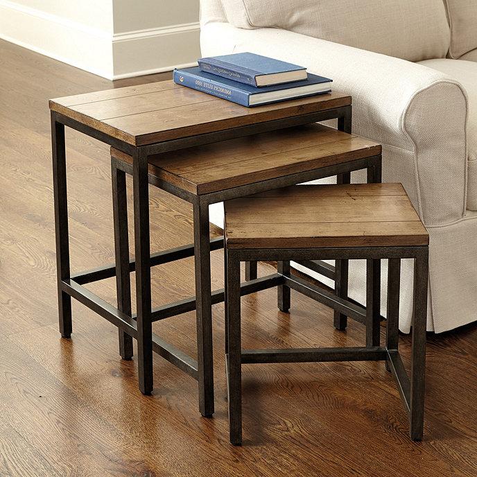 Durham Nesting Tables Set Of Ballard Designs - Nesting table with drawer