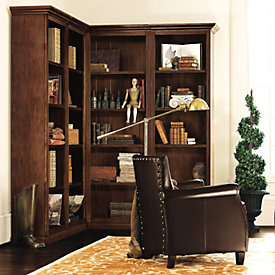 Tuscan Corner Bookcase Set   4 Piece