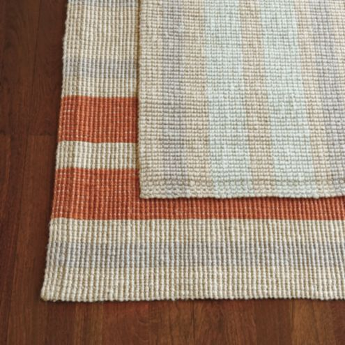 Suzanne kasler wide stripe jute rug rugs ballard designs for Ballard designs bathroom rugs