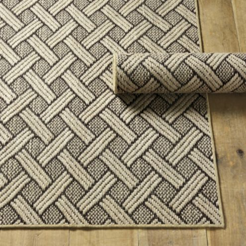 Basketweave Jute Rug