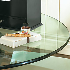 Round Glass Table Tops W/ Pencil Polished Edge