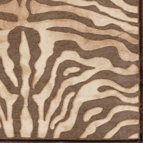 Celine zebra rug mocha ballard designs for Ballard designs bathroom rugs