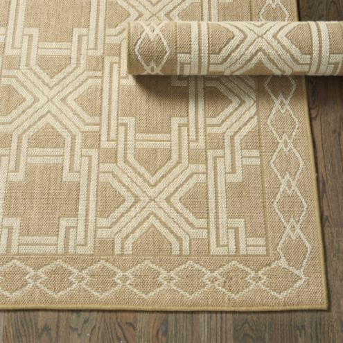 Fretwork Jute Rug Swatch