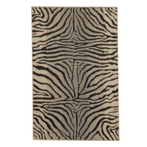 Zebra belgique indoor outdoor rug ballard designs for Ballard designs bathroom rugs
