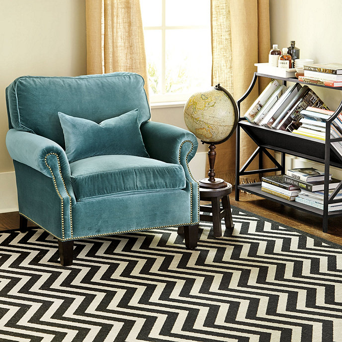 Chevron Stripe Indoor Outdoor Rug