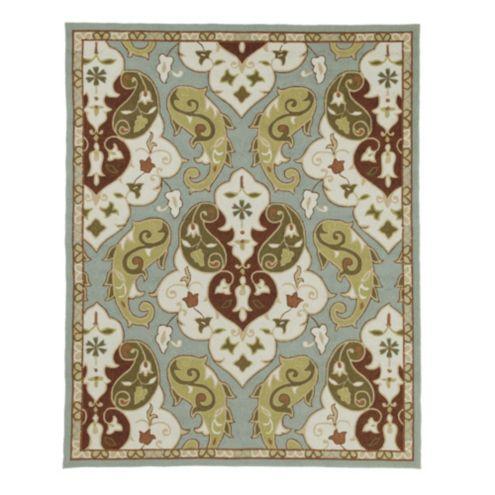 Livonia indoor outdoor rug european inspired home for Ballard designs bathroom rugs