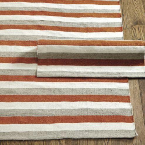 Rugby stripe indoor outdoor rug ballard designs for Ballard designs bathroom rugs