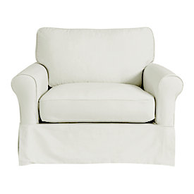 Baldwin Club Chair Slipcover   Special Order Fabrics