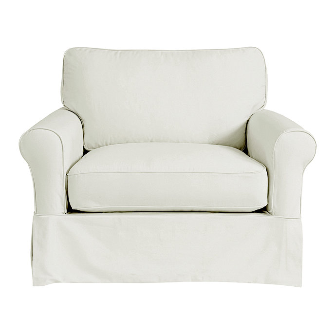 Charmant Baldwin Club Chair Slipcover   Special Order Fabrics