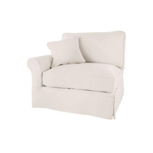 Baldwin Left Armchair Slipcover   Special Order Fabrics