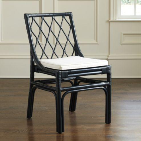 Vivian Rattan Dining Chairs Set Of 2 Ballard Designs