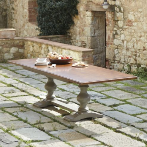Casa Florentina Tarvine Double Pedestal Table with Walnut