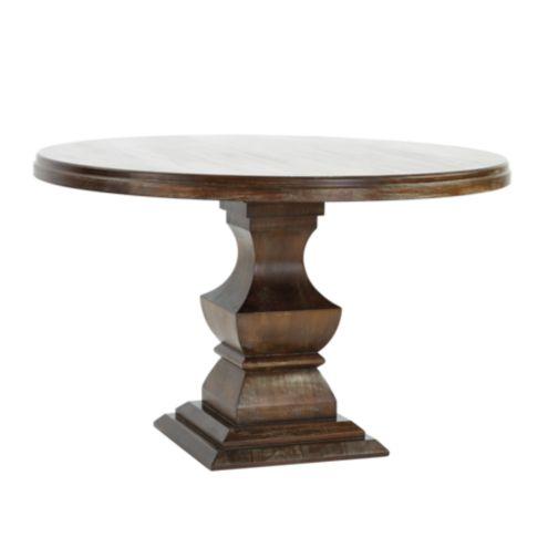 Sidney Dining Tables Ballard Designs - Whitewashed pedestal dining table