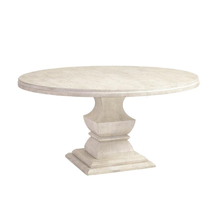 Andrews Pedestal Dining Table Ballard Designs - 60 inch round wood pedestal dining table