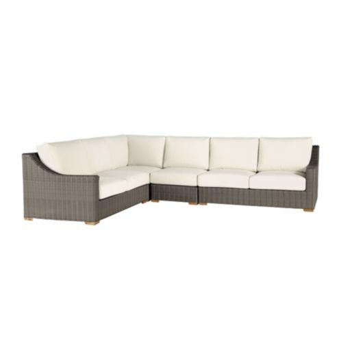 Sutton 4 piece sectional ballard designs for Ballard designs chaise lounge