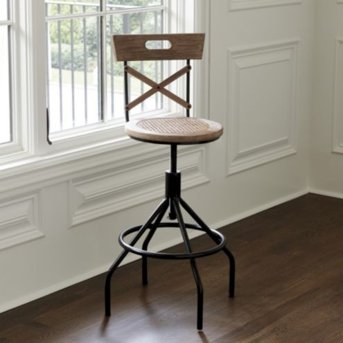 Nya Stool with Backrest