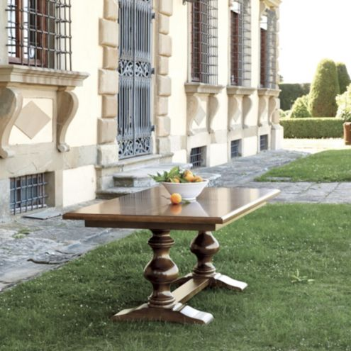 Tarvine Double Pedestal Dining Table | European-Inspired Home