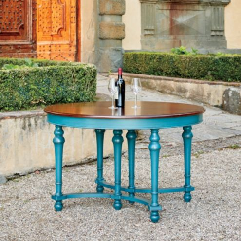 Casa Florentina Farnese Dining Table with Walnut Top