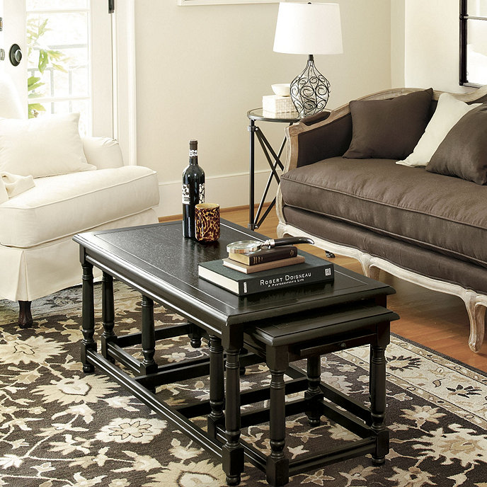 Camille Pc Nesting Coffee Table Ballard Designs - 3 piece nesting coffee table