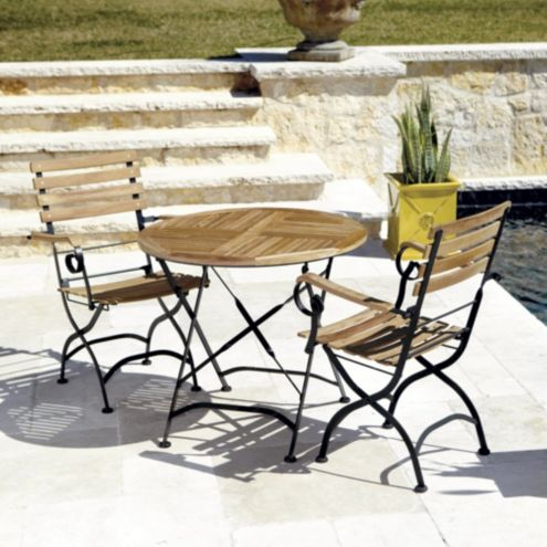 Giardino 3-Piece Café Dining Set with Armchairs