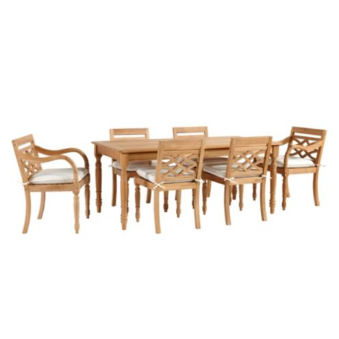 Ceylon Teak 7-Piece Rectangular Dining Set