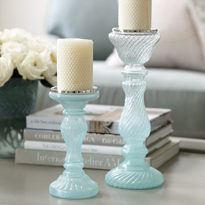 Matine Milky Glass Candle Holder