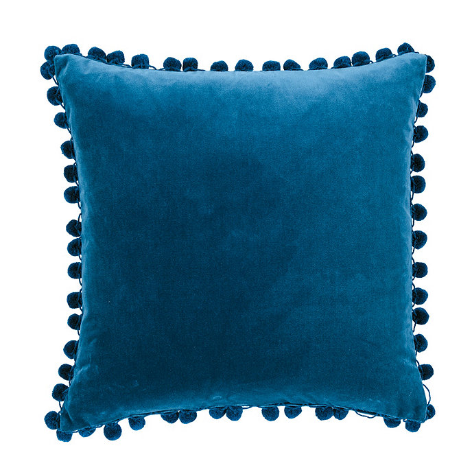 Signature Velvet Pom 20 Square Pillow Cover