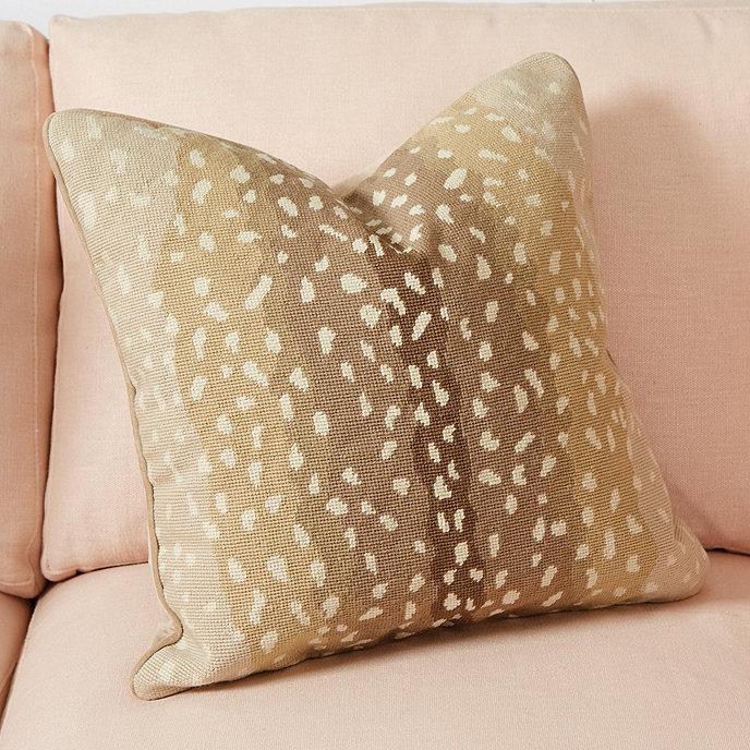 Antelope Needlepoint Pillow Cover