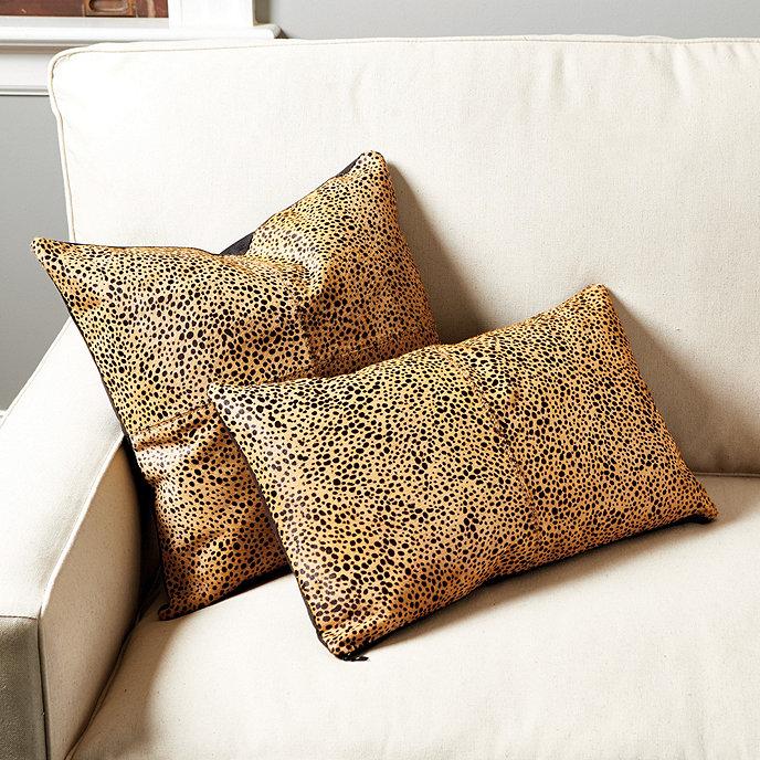 Cheetah Hair On Hide Pillow Cover