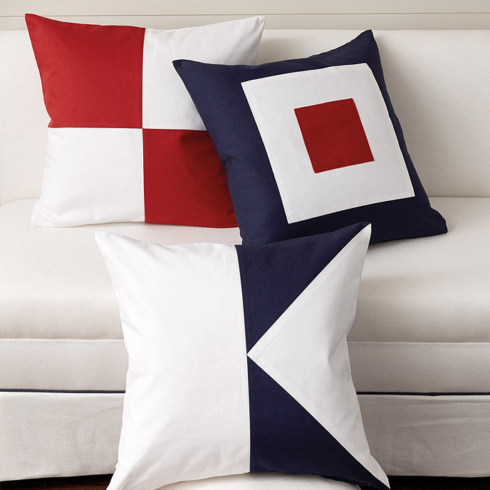 Suzanne Kasler Seafarer Throw Pillow Cover