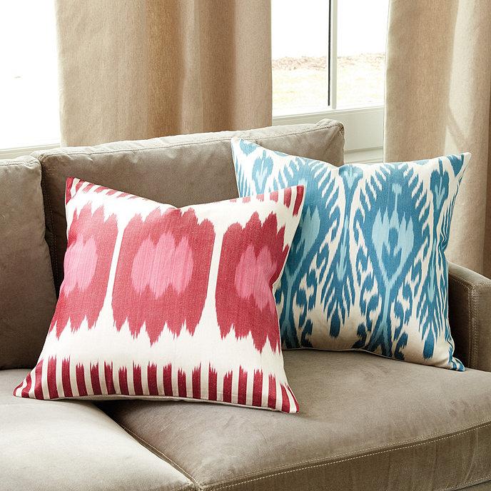 Norah Silk & Linen Pillow | Ballard Designs