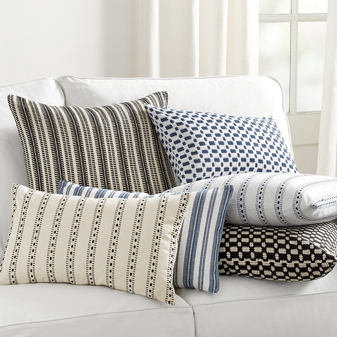 Noir Textured Woven Pillow Covers