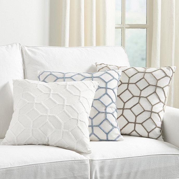 Inman Textured Trellis Pillow Cover