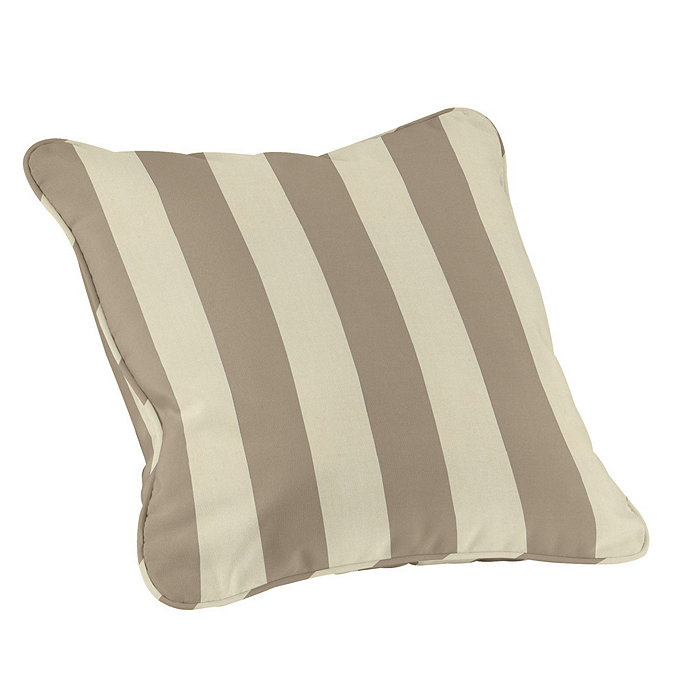 Outdoor Piped Throw Pillow