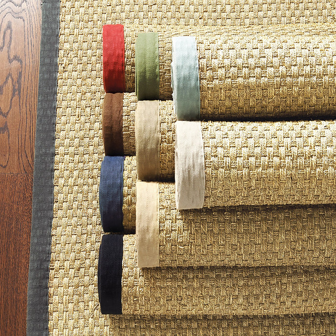 Twill Border Swatch For Seagr And Light Sisal Rugs