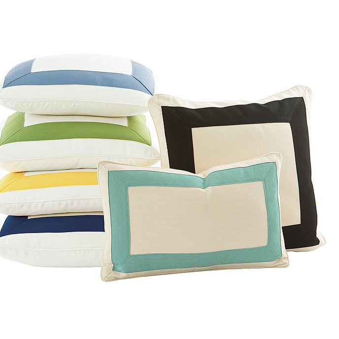 Outdoor Bordered Pillow Cover