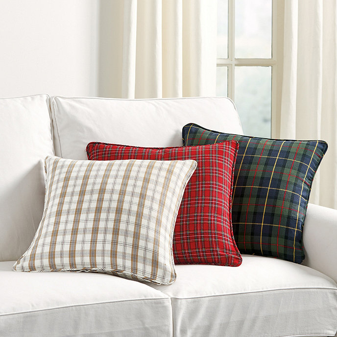 Suzanne Kasler Signature Holiday Plaid Pillow Cover