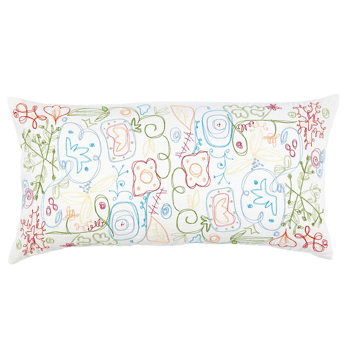 Suzanne Kasler Embroidered Pillow Cover