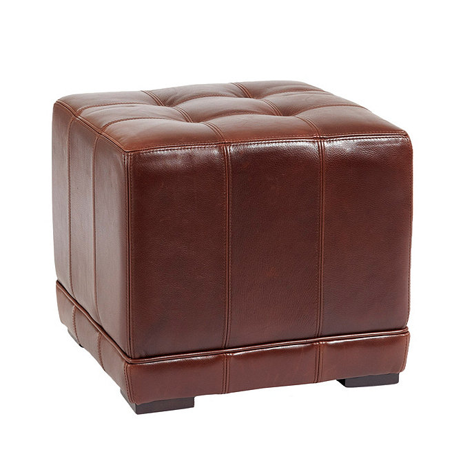 Leather Cube Ottoman - Leather Cube Ottoman Ballard Designs