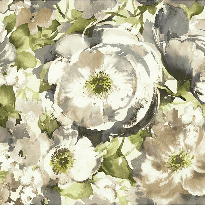 Floral Watercolor Wallpaper Swatch
