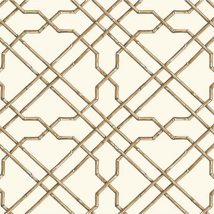 bamboo trellis wallpaper swatch green - Trellis Wall Paper
