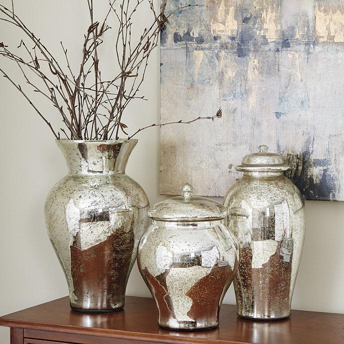 Mercury glass vases ballard designs