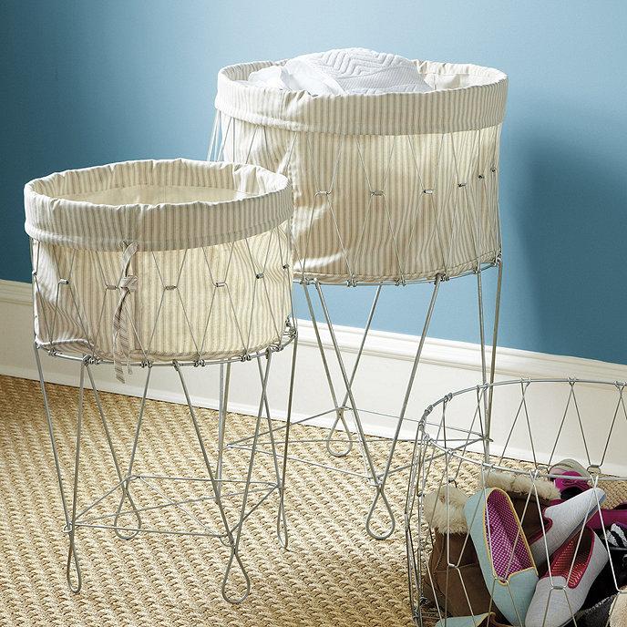 Standing Folding Wire Baskets | Ballard Designs