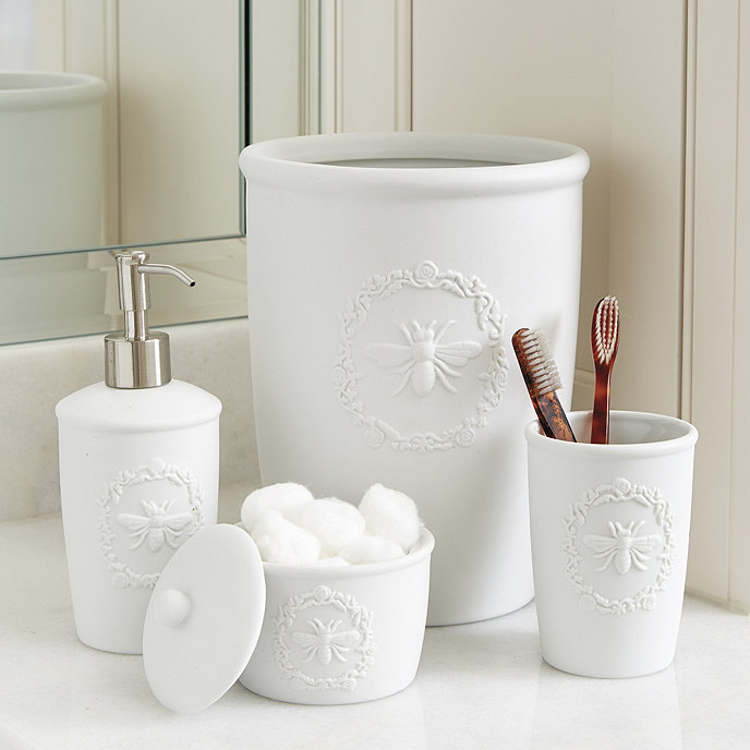 Bee Porcelain Bath Accessories Ballard Designs - Bathroom accessories store near me