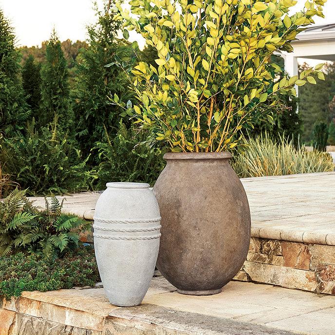 Campagna olive jar planter ballard designs - Does olive garden deliver to your house ...