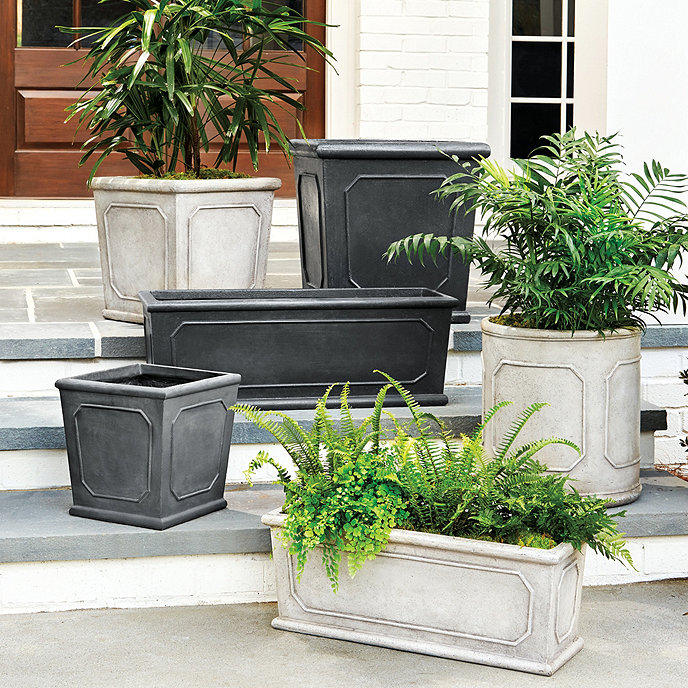 front planter stock black large and tall square windsor company products root